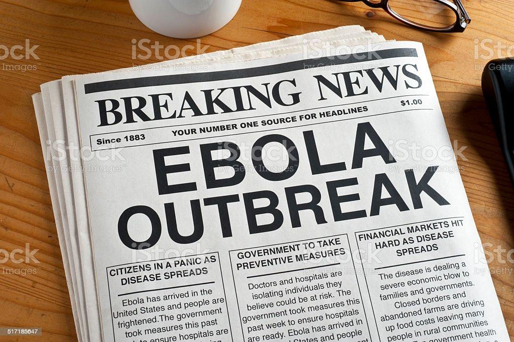 EBOLA Headline stock photo