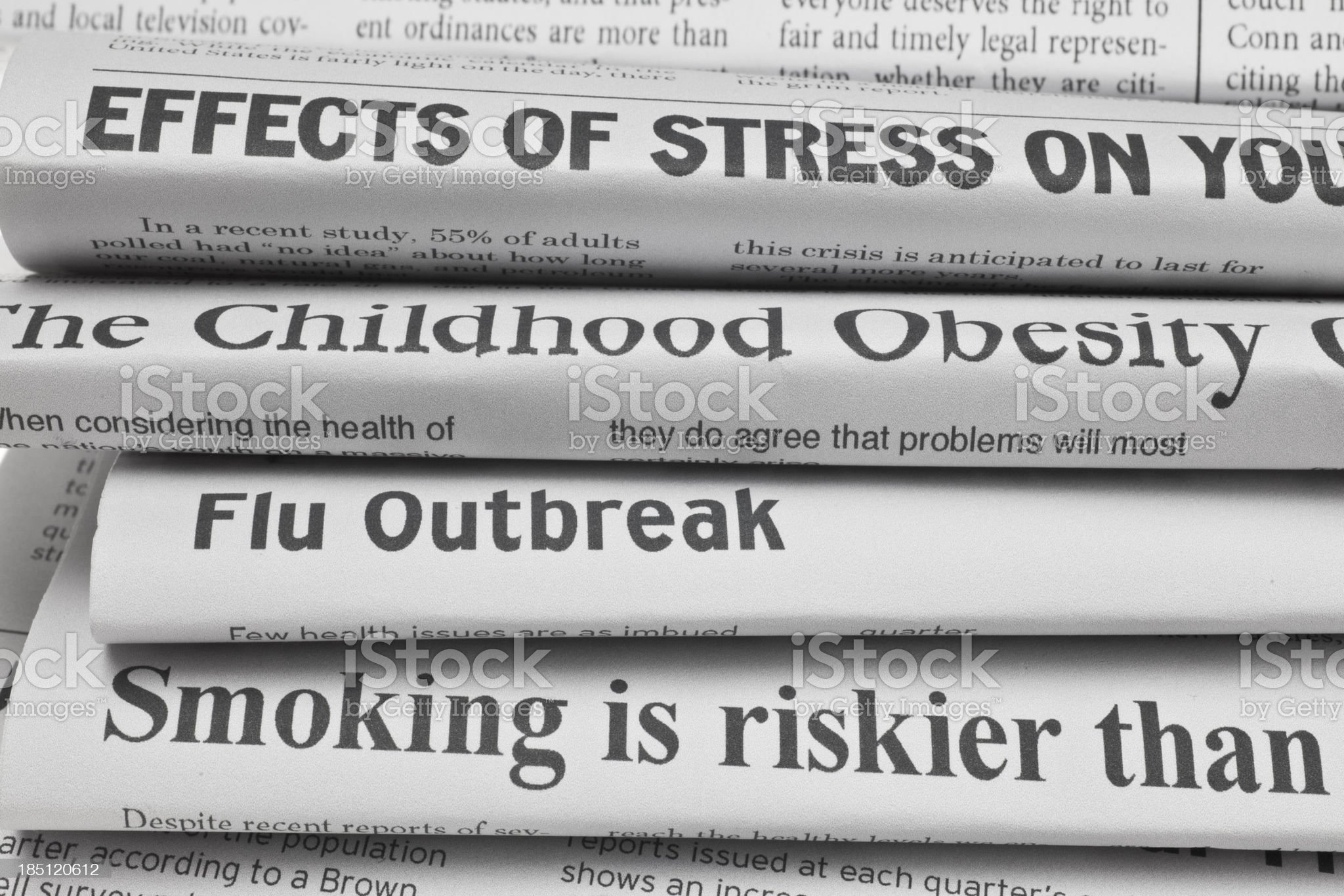 Headlines About Health Issues royalty-free stock photo