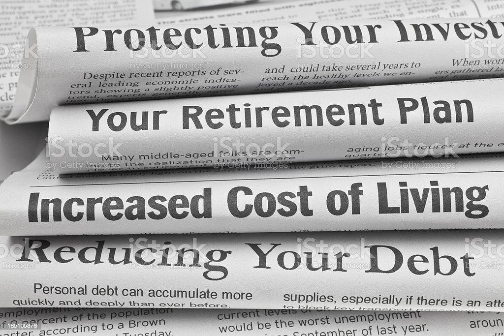 Headlines About Personal Finance Issues royalty-free stock photo