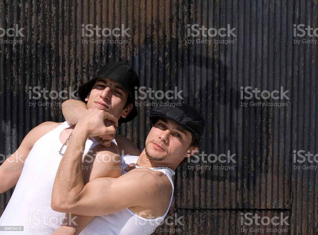 headlock stock photo