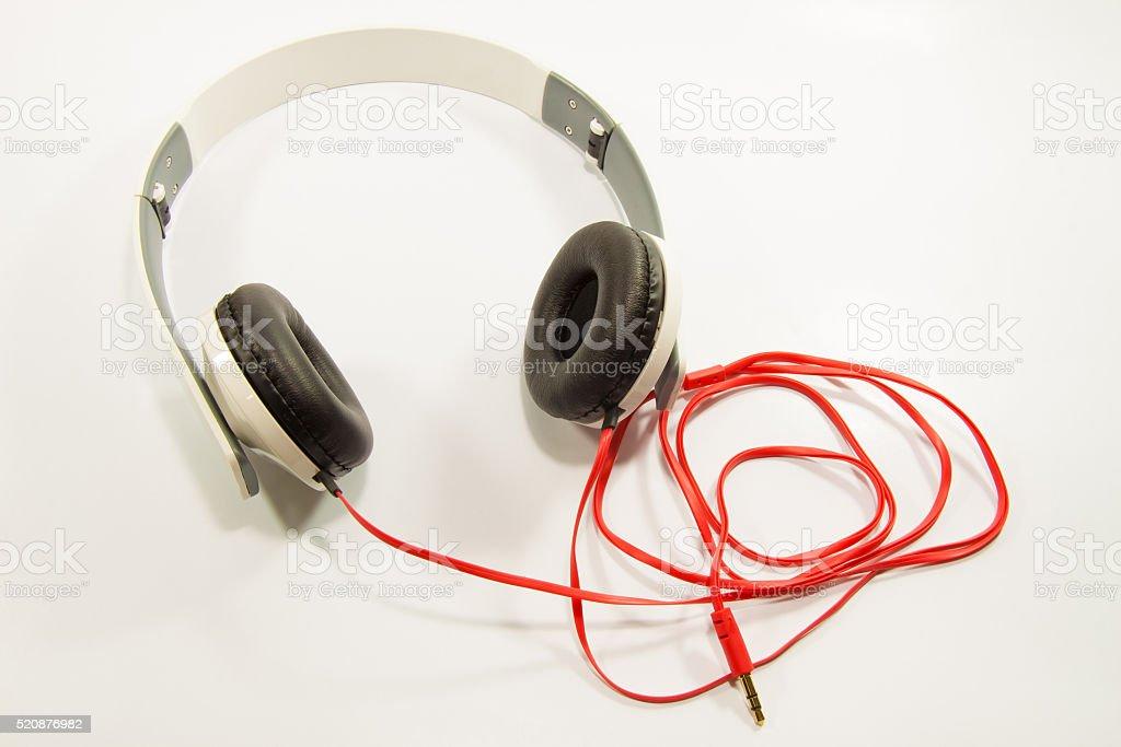 Headphone on white background royalty-free stock photo