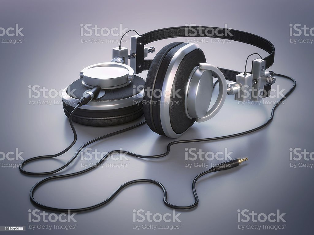 Headphones: cosy and stylish royalty-free stock photo