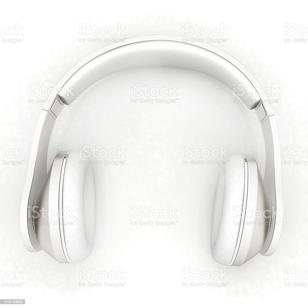 Headphones Isolated on White Background stock photo