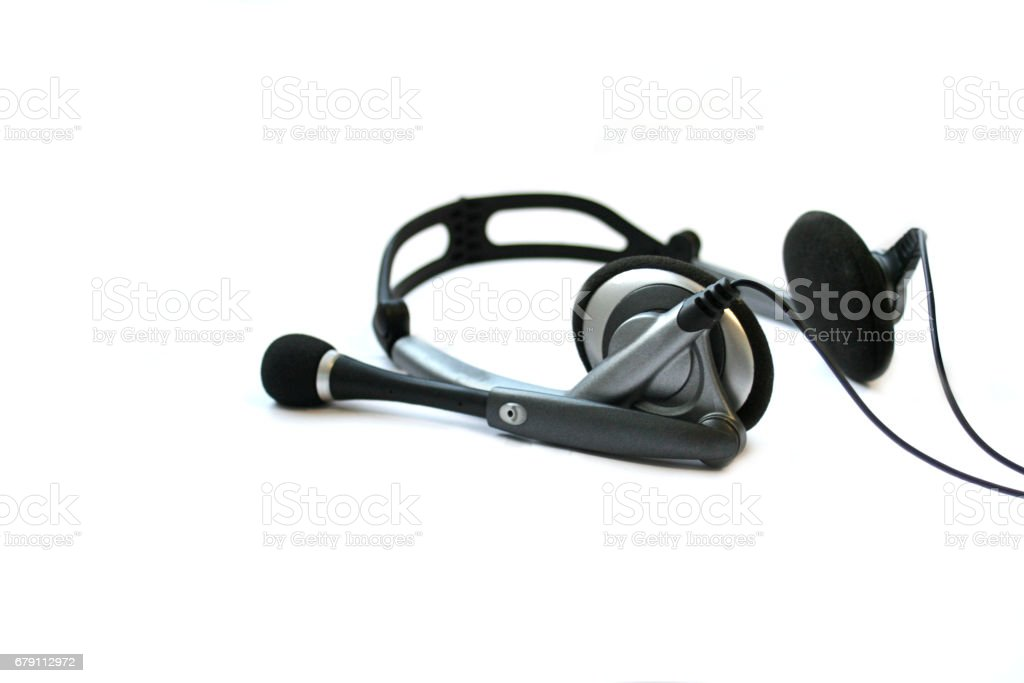 Headphones isolated on white stock photo