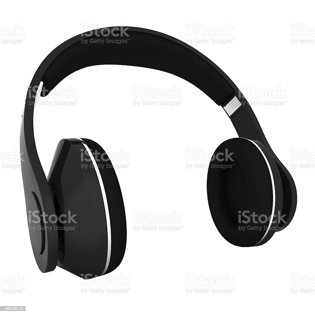 Headphones of carbon material stock photo