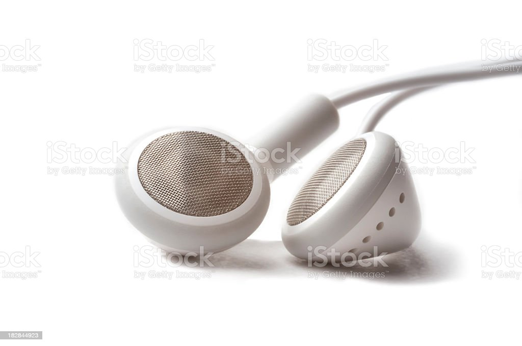 Headphones on a white background royalty-free stock photo