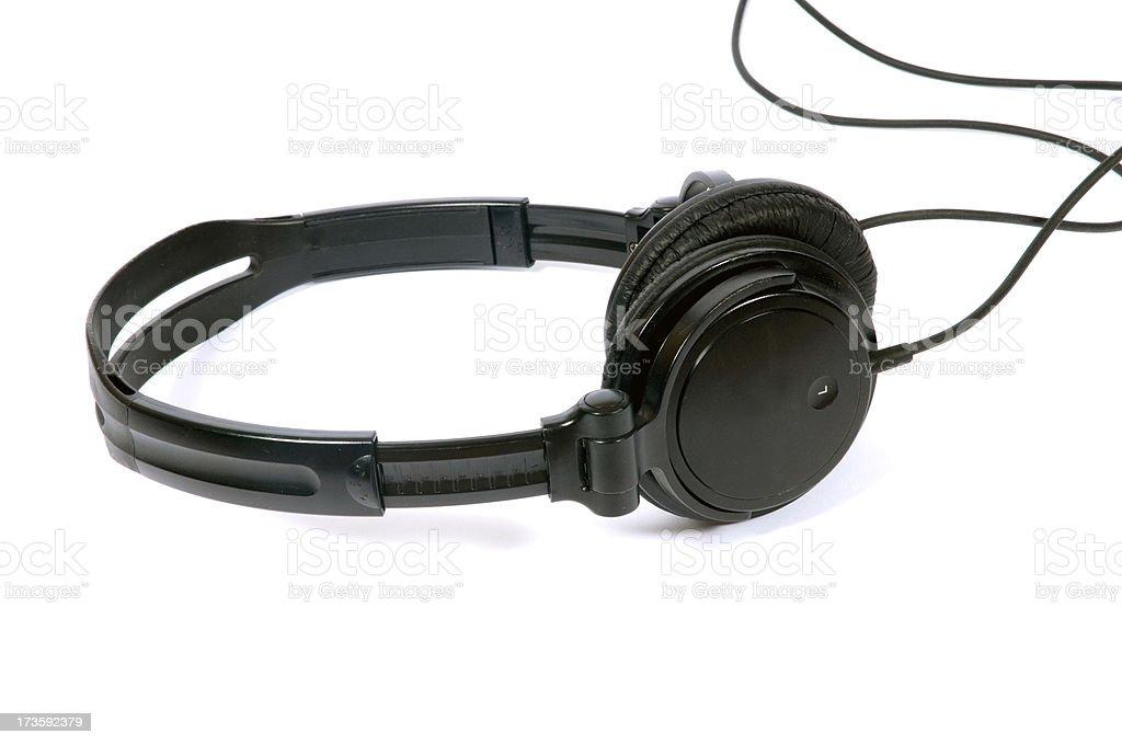 Headphones on White royalty-free stock photo