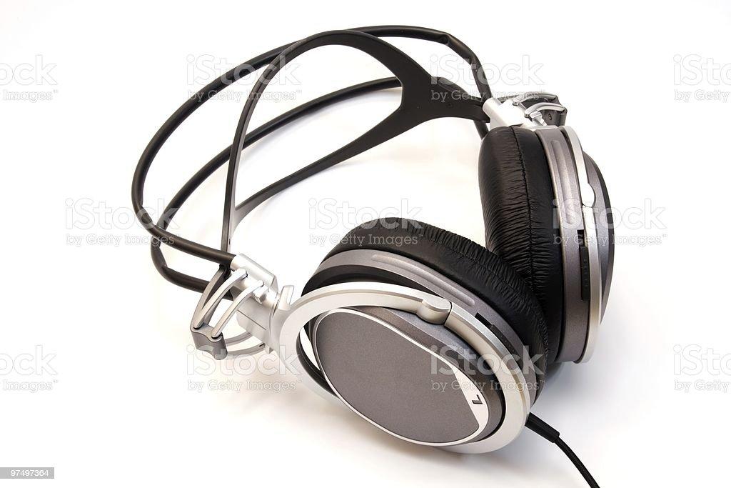 Kopfhörer auf weiße Lizenzfreies stock-foto