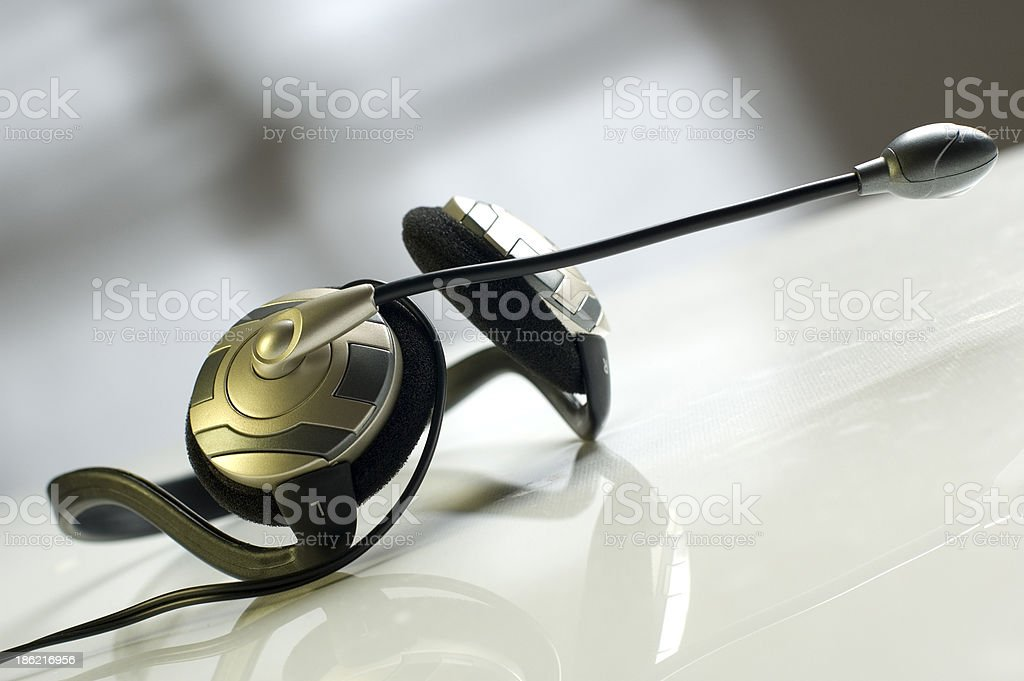 headphones stock photo