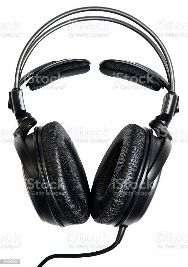 Headphones. stock photo