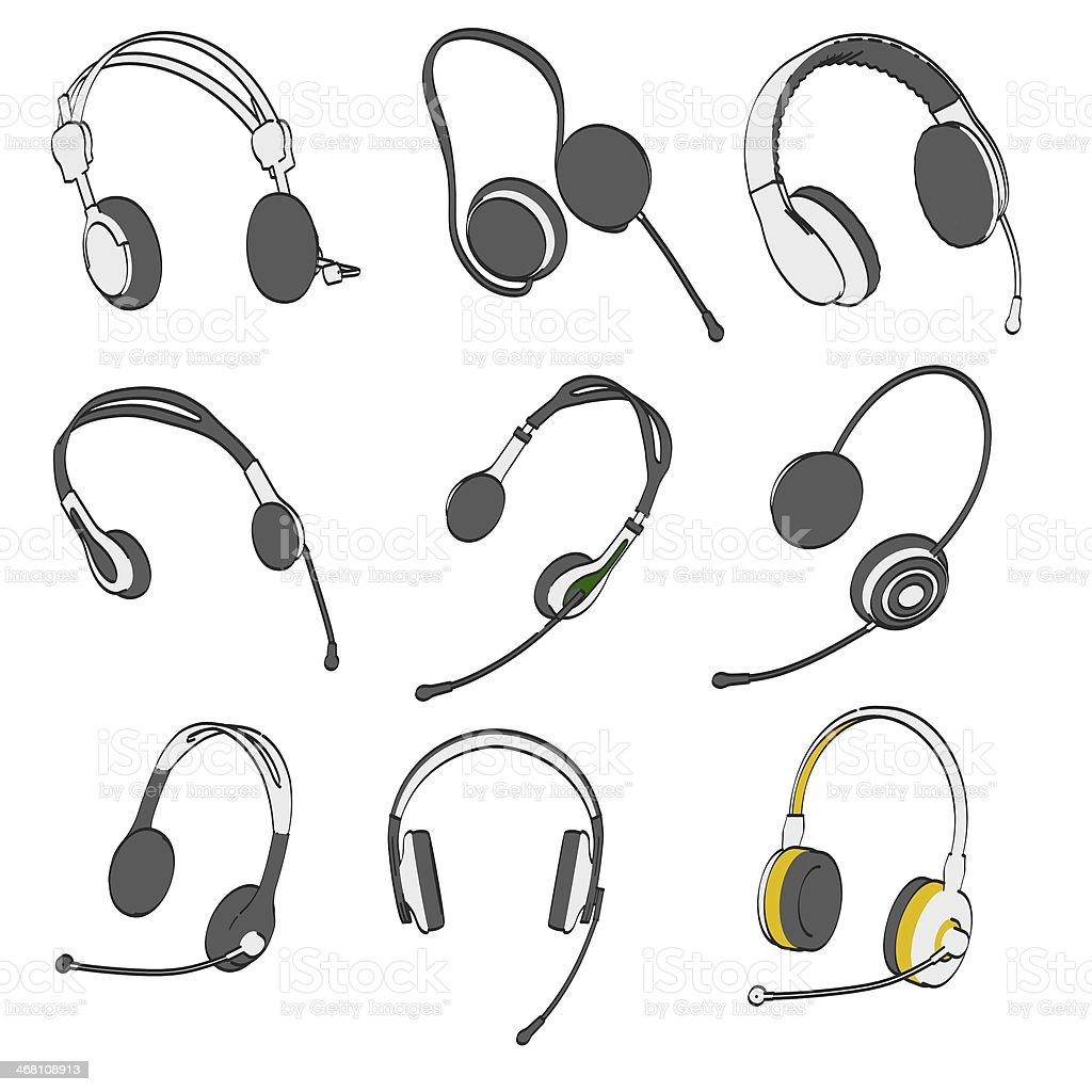 headphones set royalty-free stock photo