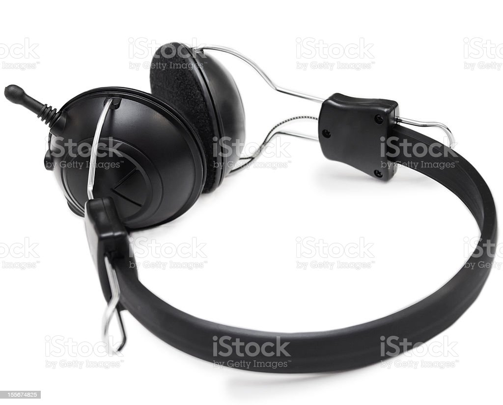 Headphones set with microphone royalty-free stock photo