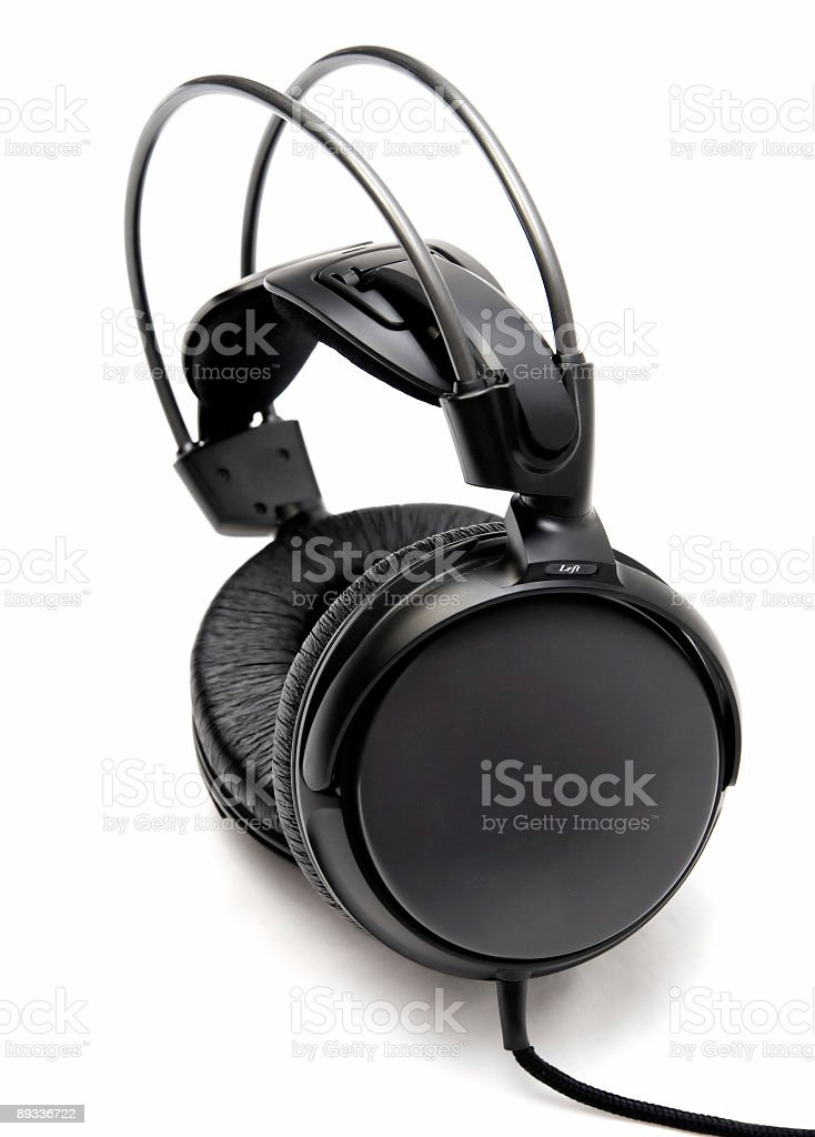 Headphones sideview stock photo