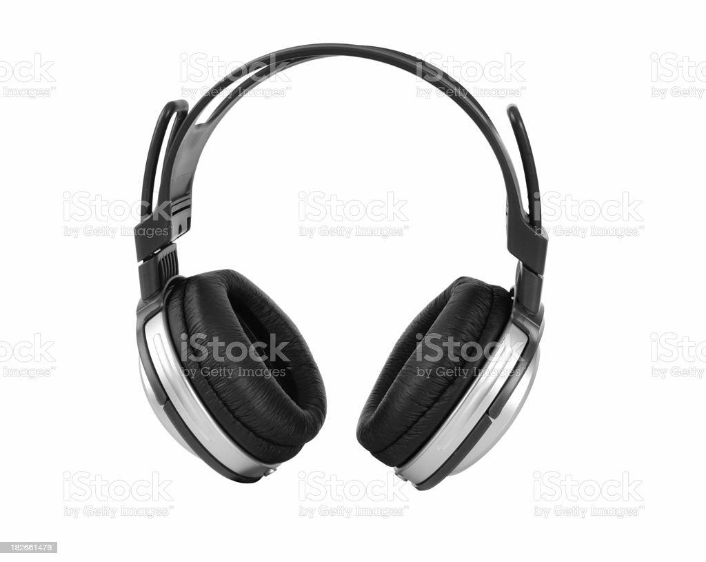 Headphones Silver royalty-free stock photo