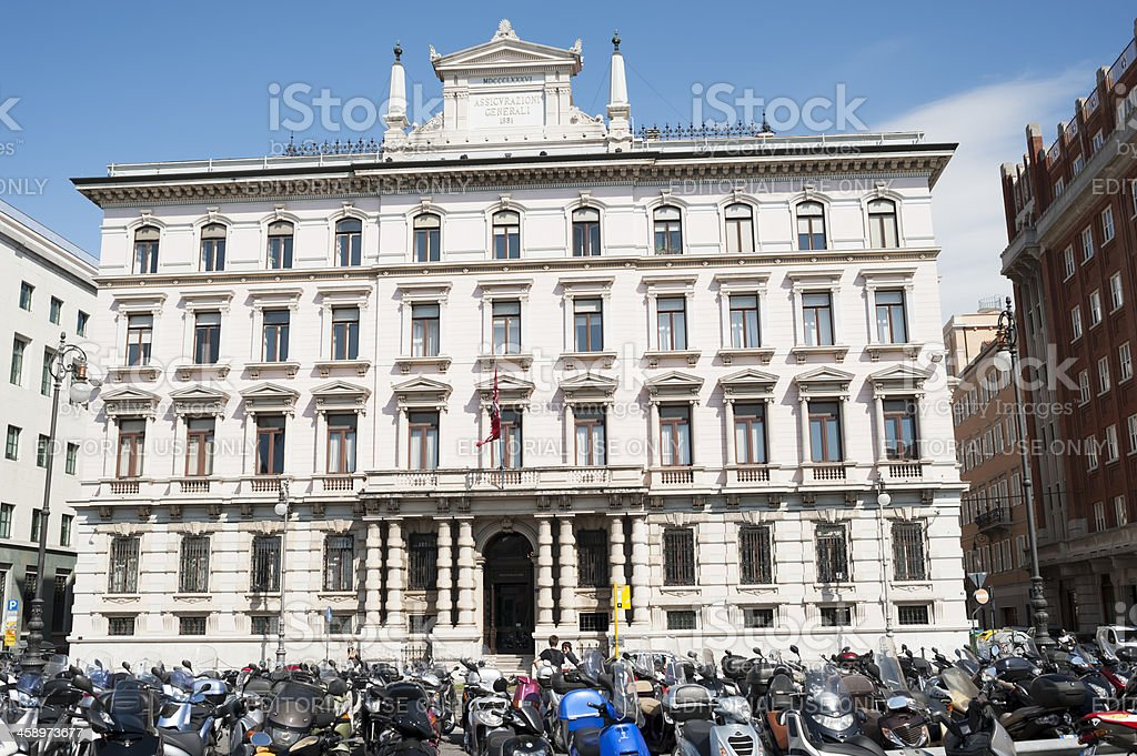 Headquarter of Assicurazioni Generali, Trieste, Italy royalty-free stock photo