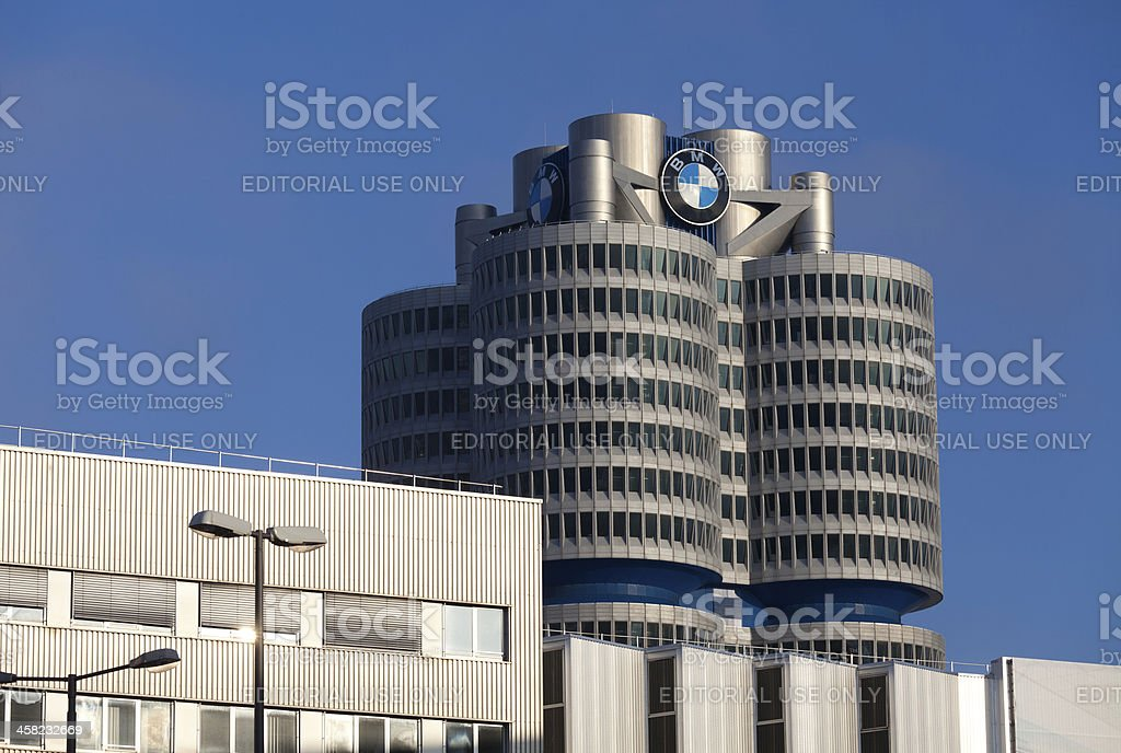 BMW headquarters and factory in Munich stock photo