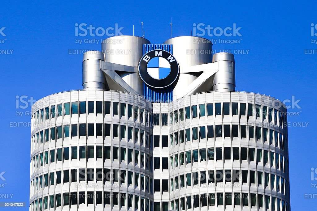 BMW headquarters building Munich stock photo