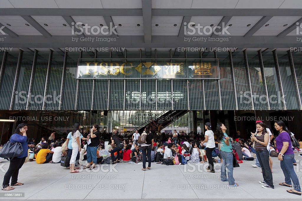 HSBC headquarters building royalty-free stock photo