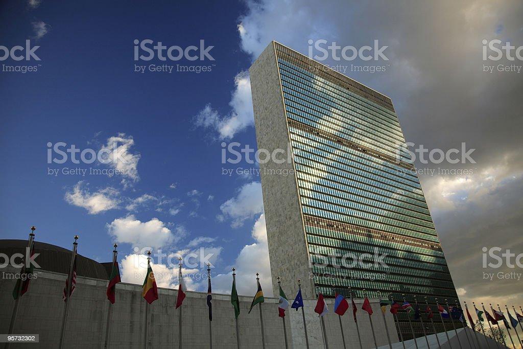 UN Headquarters, NYC stock photo