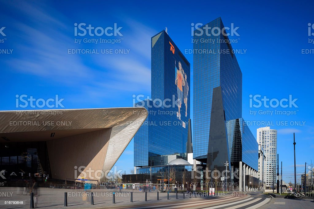 headquarters of Nationale-Nederlanden insurance company at Weena stock photo