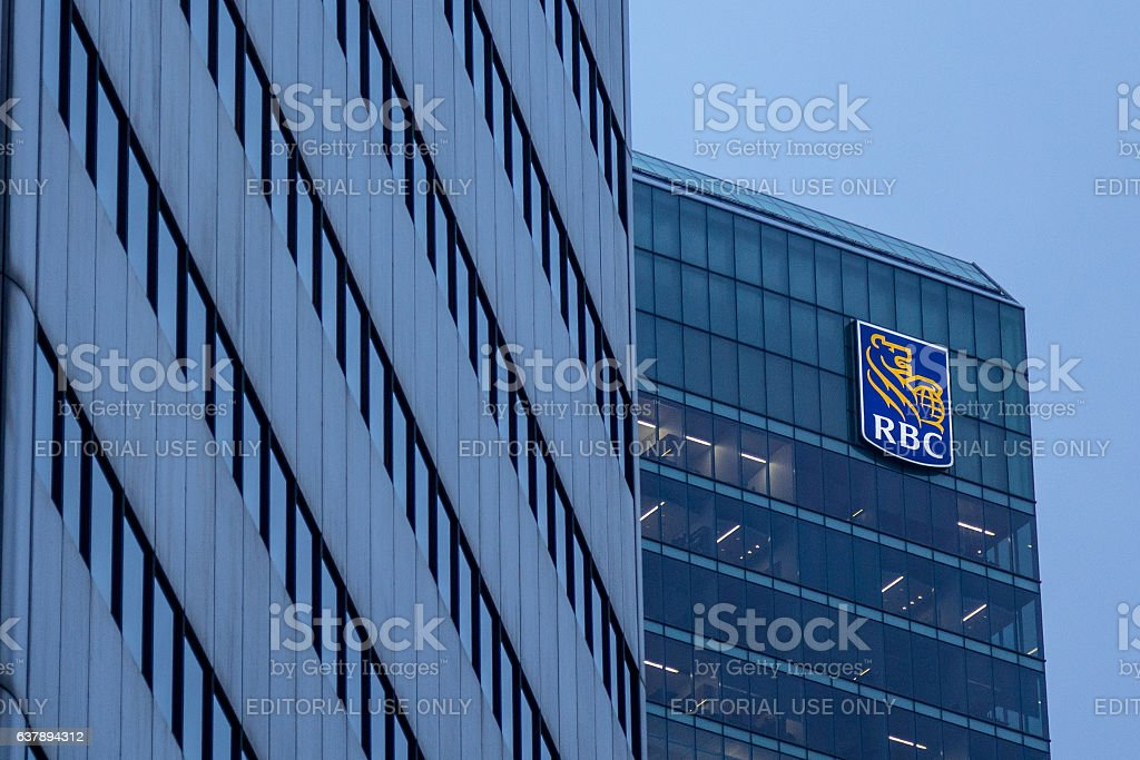Headquarters of the Royal Bank of Canada in Toronto, Canada stock photo