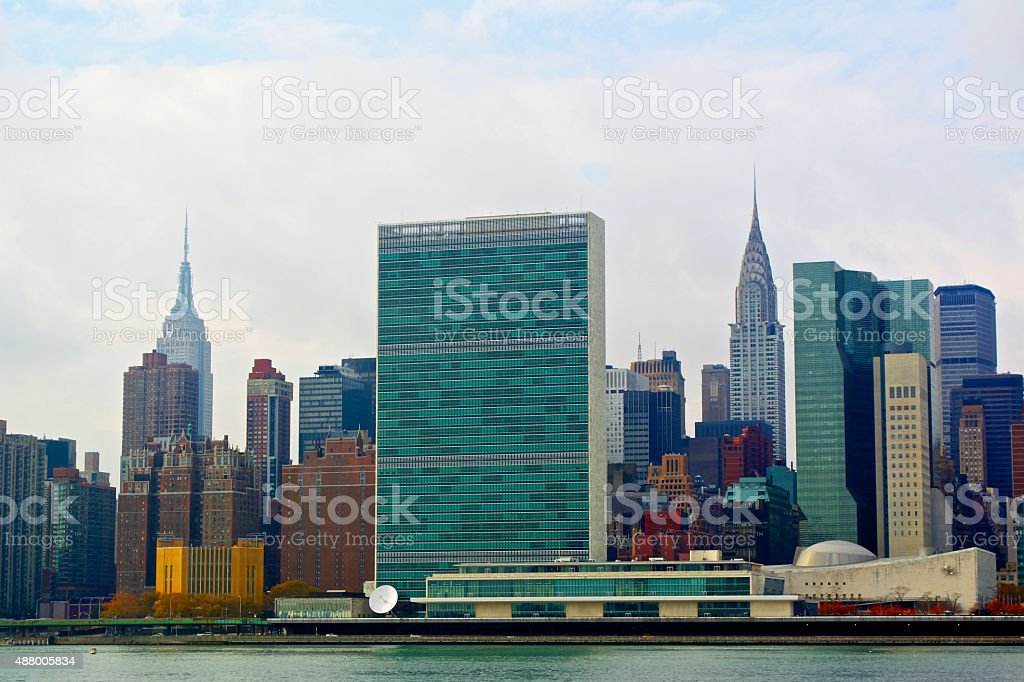UN Headquarters stock photo