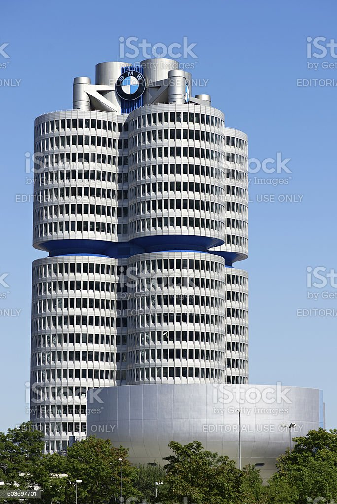 BMW Headquater Munich royalty-free stock photo