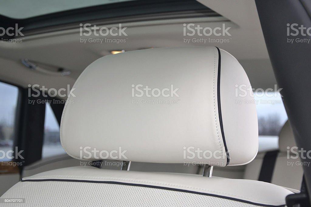 Headrest in the car stock photo