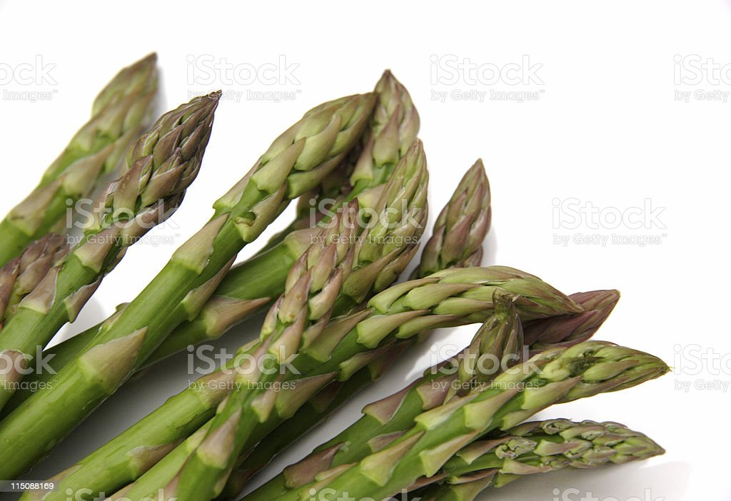 heads of fresh Asparagus royalty-free stock photo