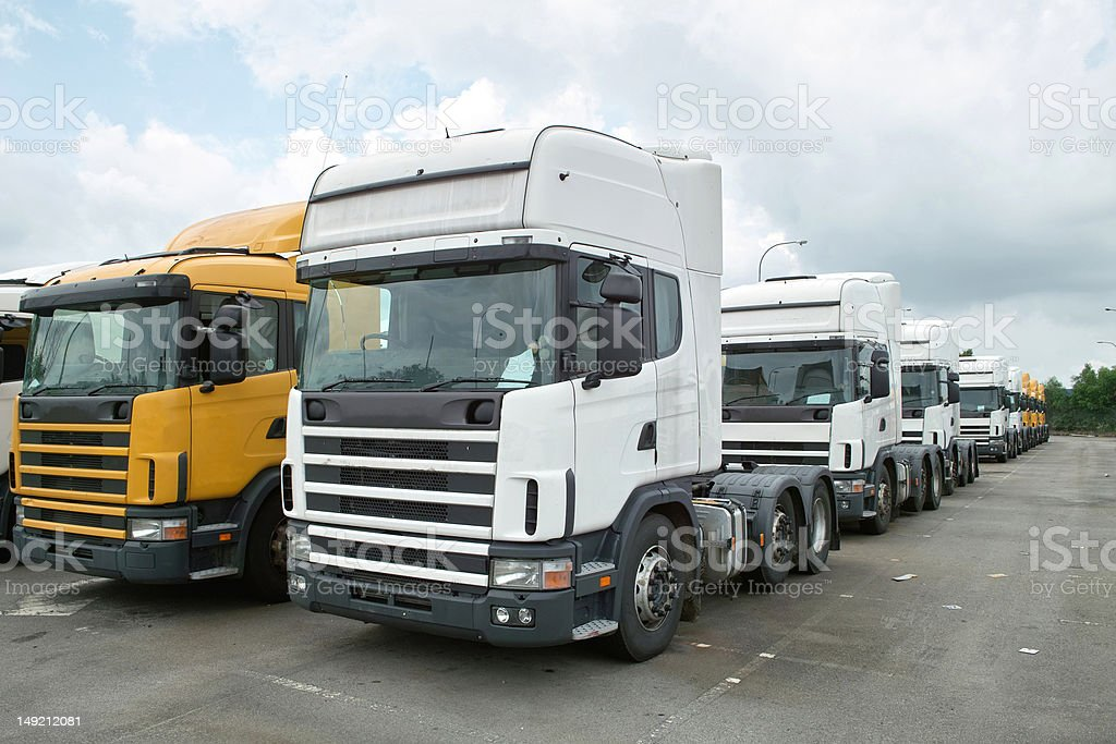 Heads of Semitrailer Trucks royalty-free stock photo