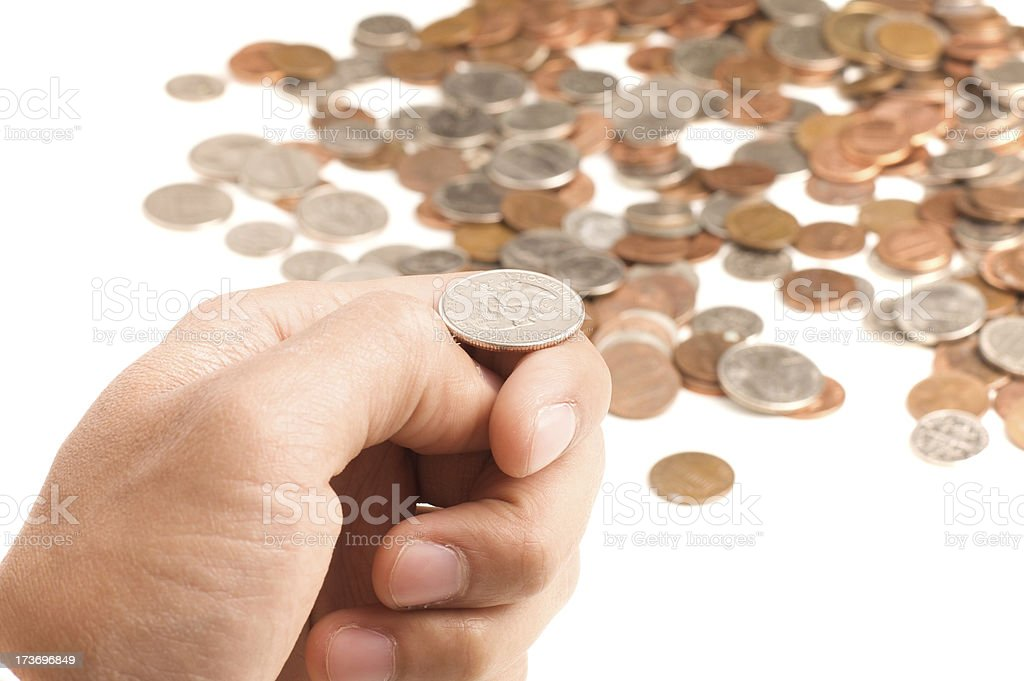 heads or tails royalty-free stock photo