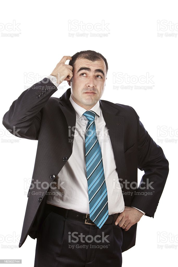 Head-Scratching Question royalty-free stock photo