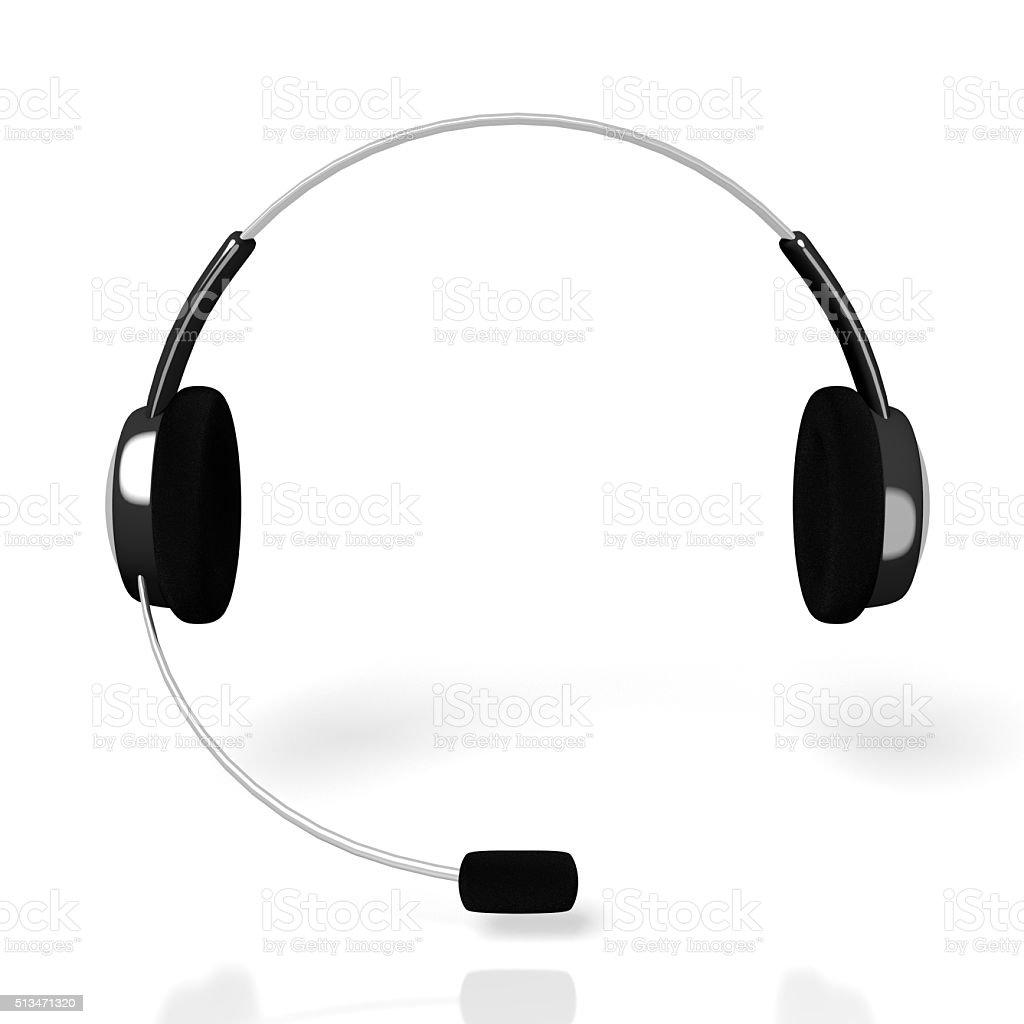 3D headset device stock photo