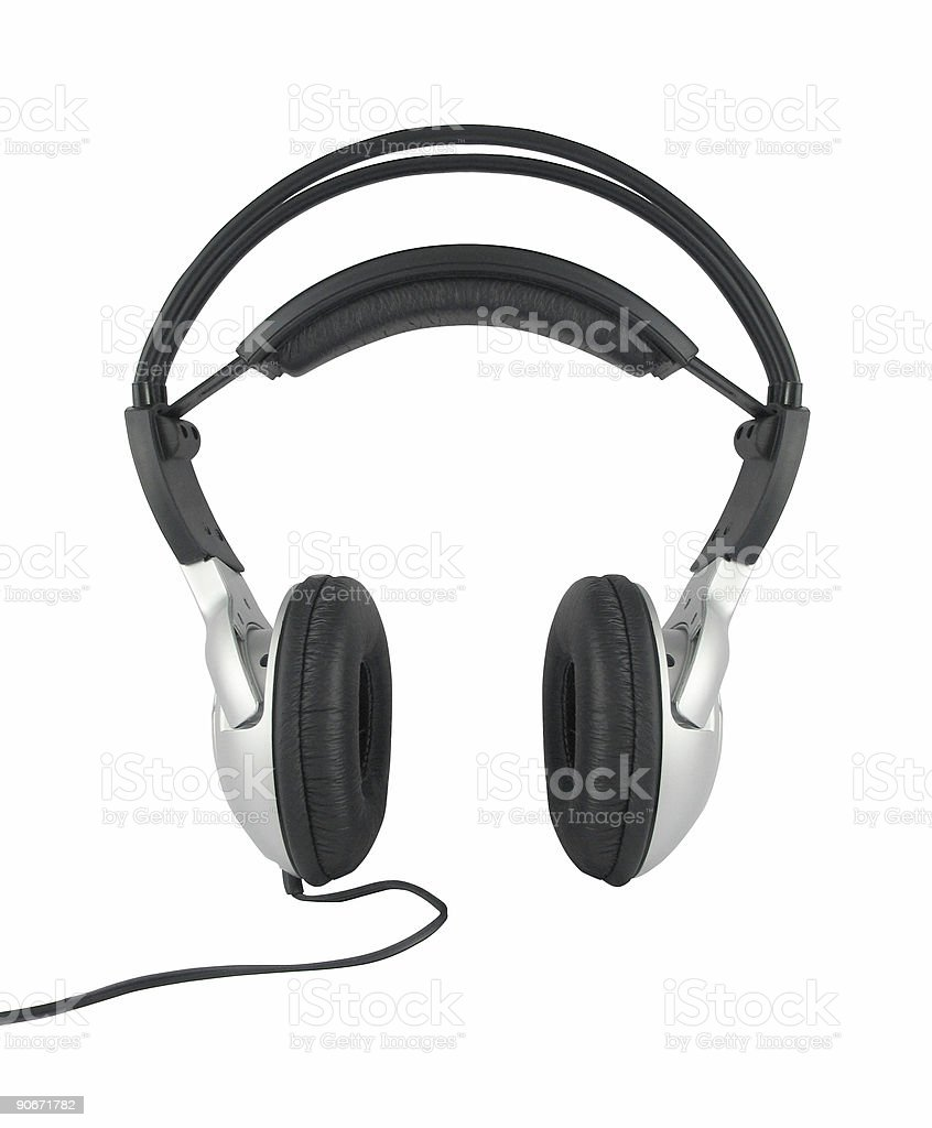 headset frontal isolated royalty-free stock photo