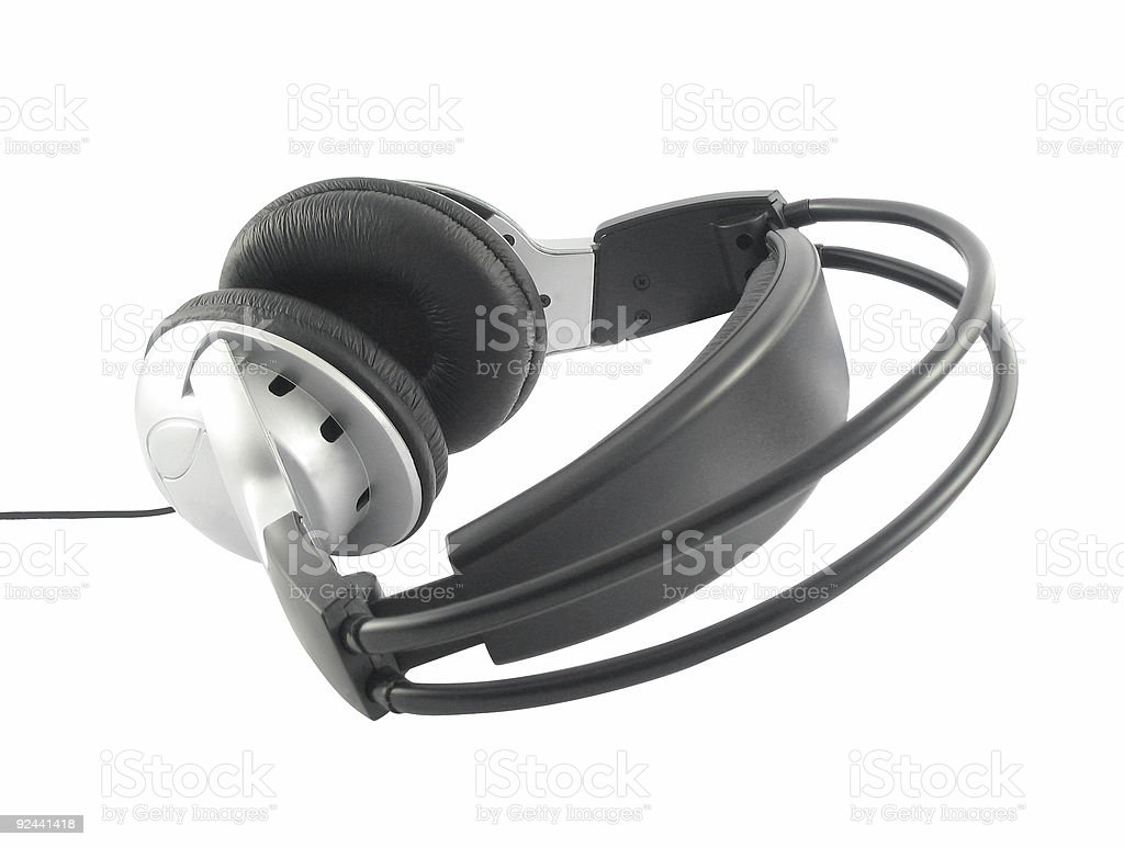 headset  isolated royalty-free stock photo