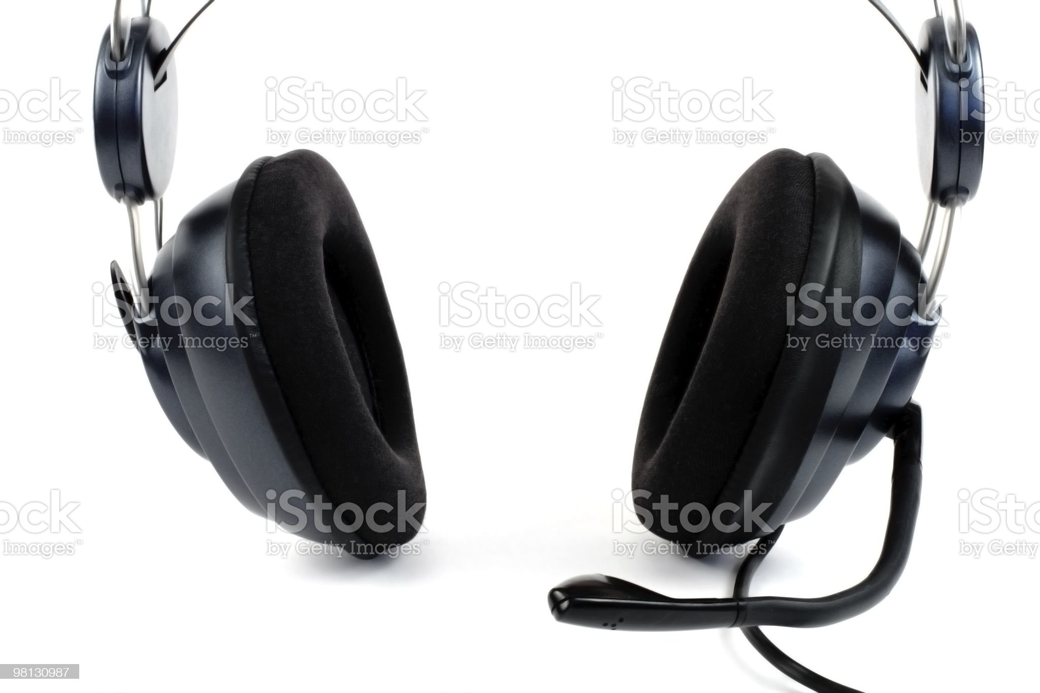 headset with microphone royalty-free stock photo