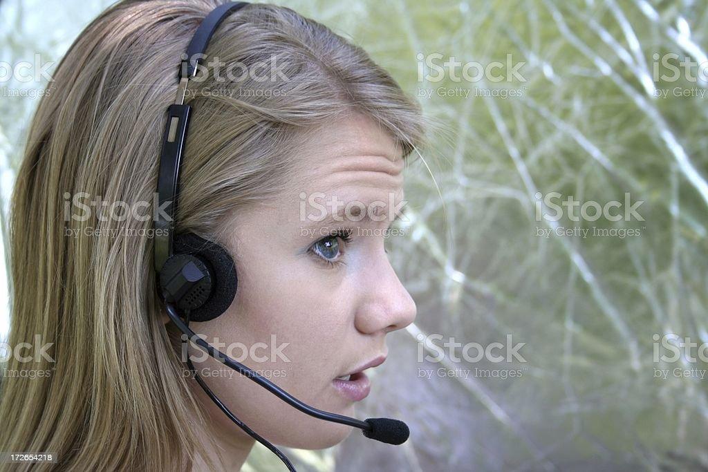Headset Woman stock photo