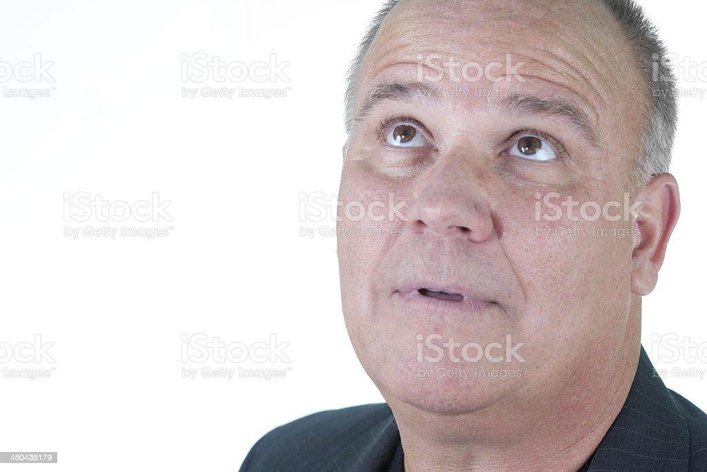 Headshot emotional male man senior stock photo