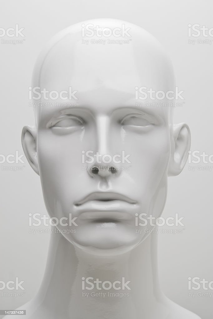 Mannequin Headshot royalty-free stock photo
