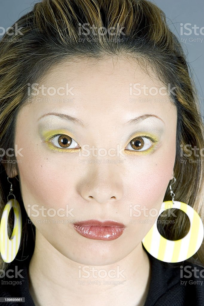 Headshot of a Gorgeous Japanese Woman stock photo