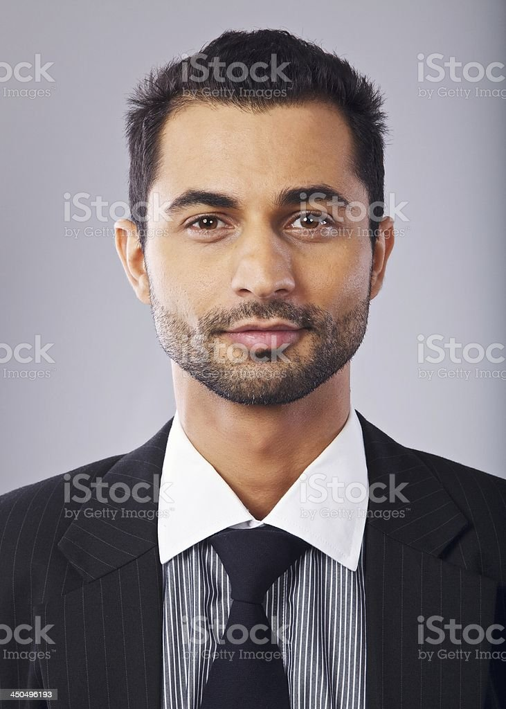 Headshot of a Handsome Middle Eastern Businessman royalty-free stock photo
