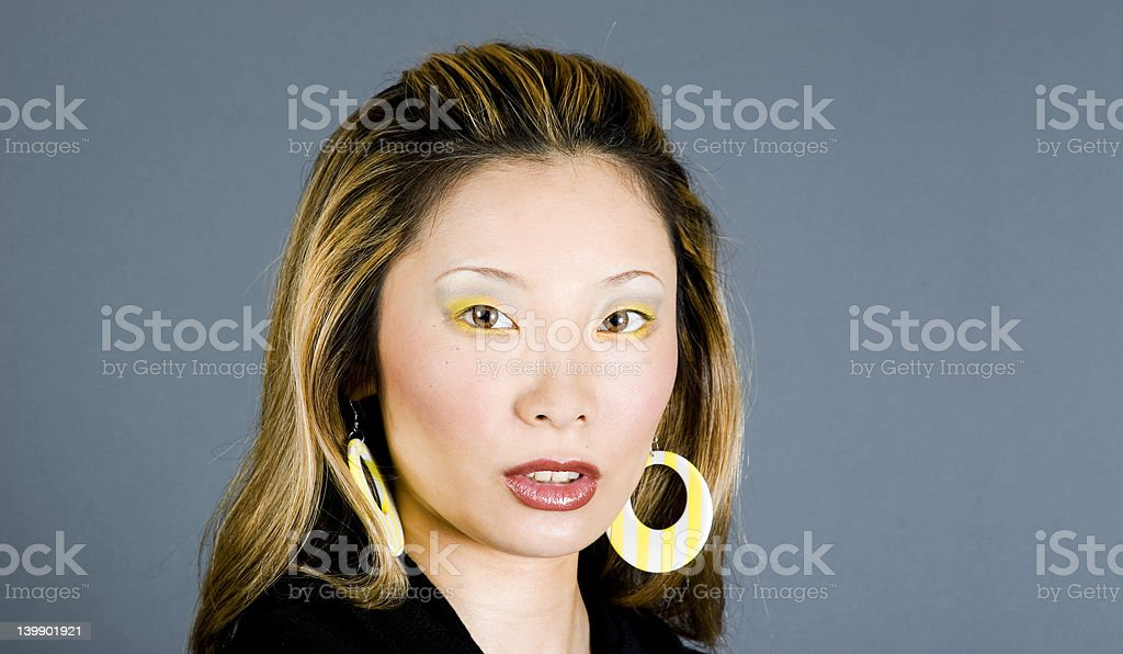 Headshot of a Japanese woman royalty-free stock photo