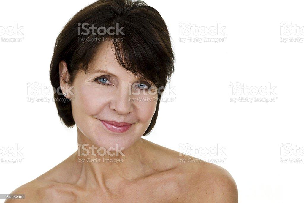 Headshot of a pretty woman royalty-free stock photo