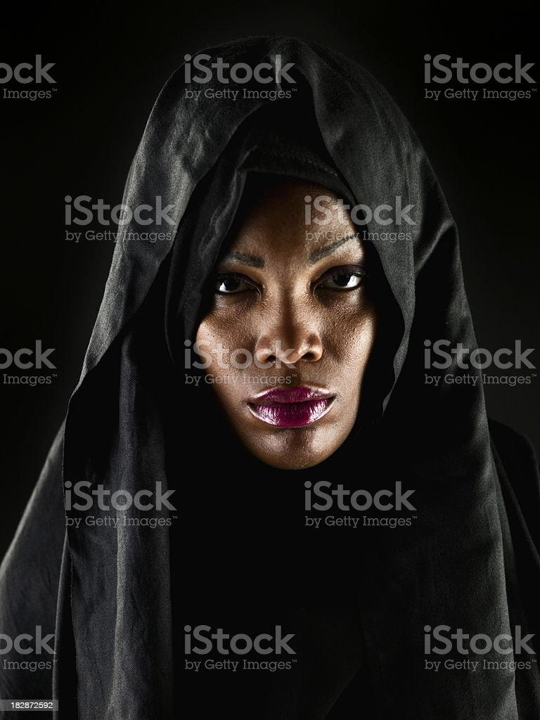 Headshot of an African Muslim woman royalty-free stock photo