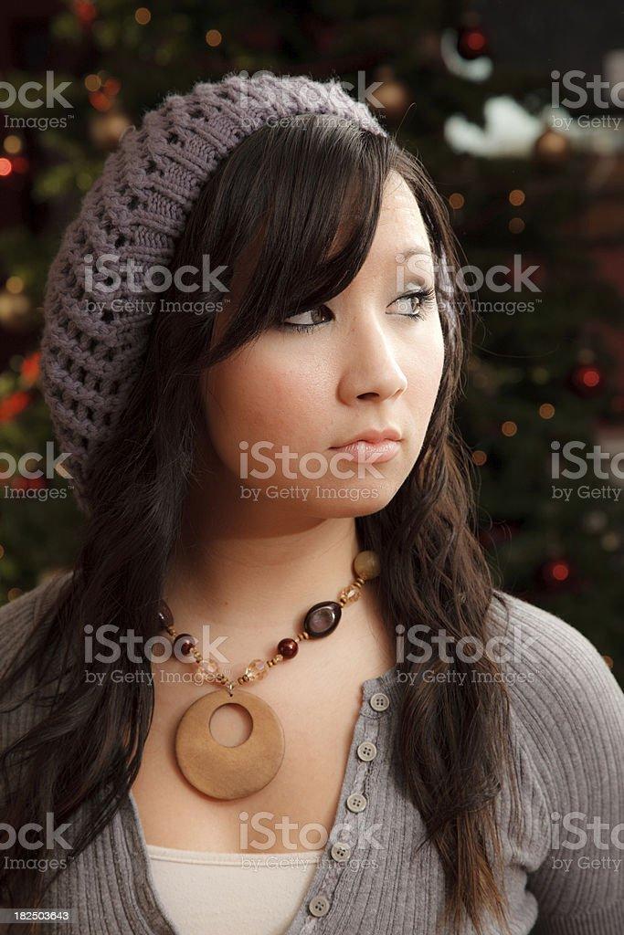 Headshot of Asian Woman stock photo