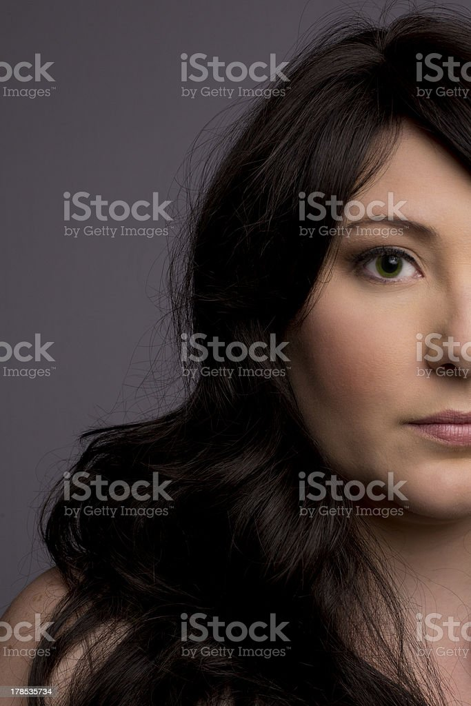 Headshot of Attractive Brunette Woman royalty-free stock photo