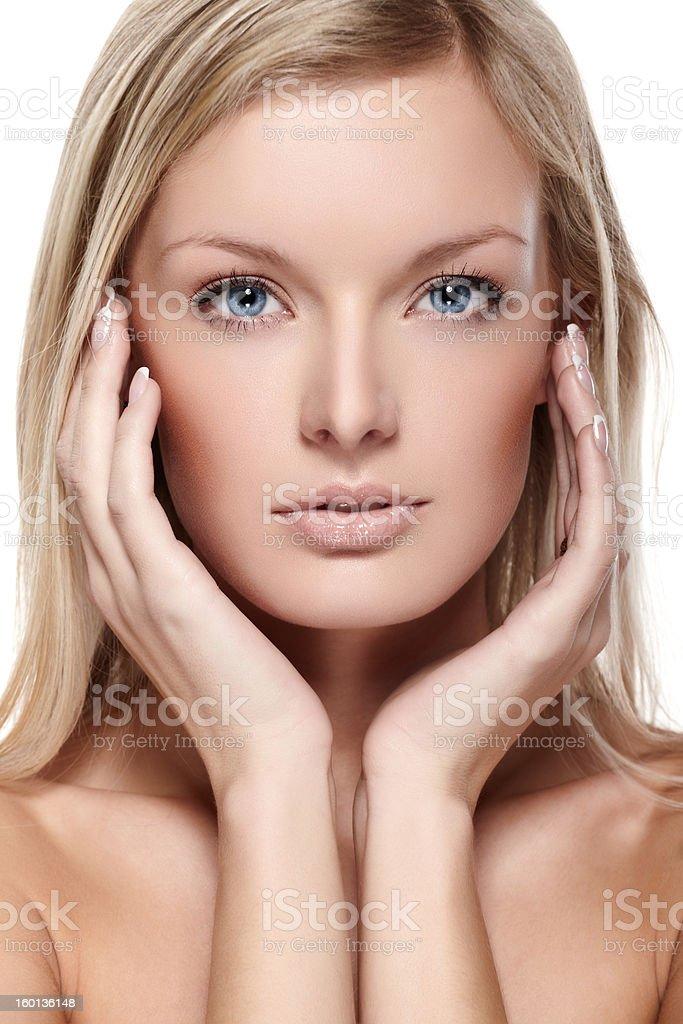 Headshot of beautiful female model royalty-free stock photo