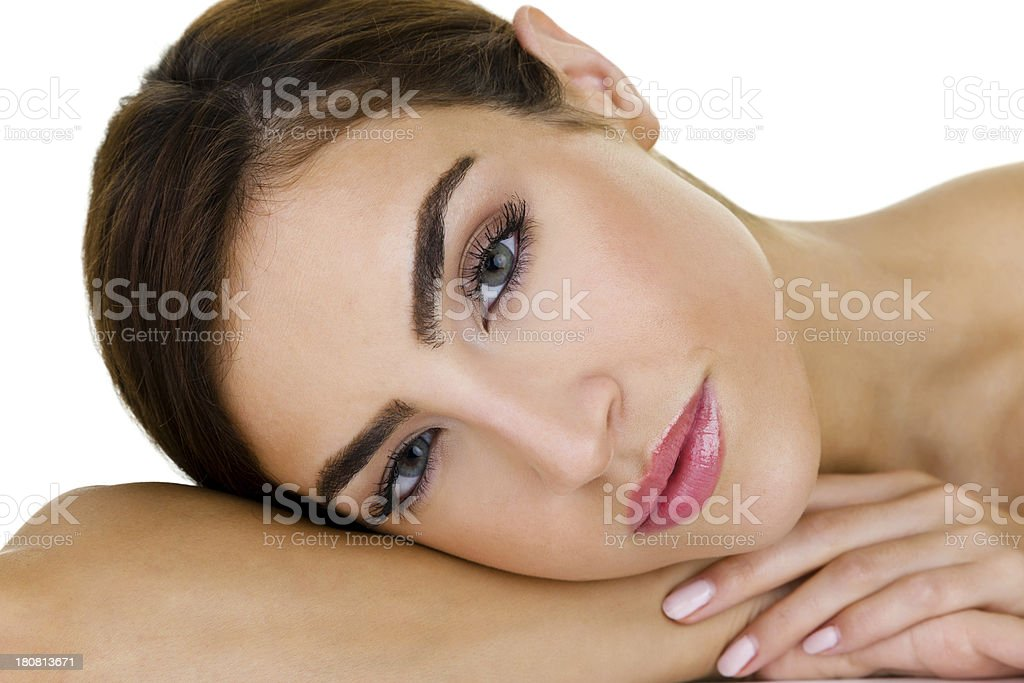 Headshot of beautiful woman royalty-free stock photo