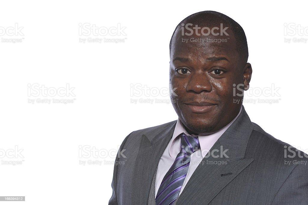 Headshot of black executive royalty-free stock photo
