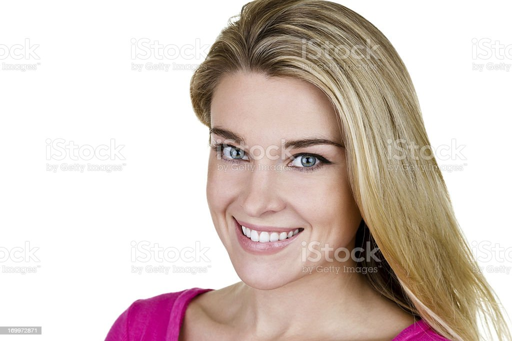 Headshot of smiling woman royalty-free stock photo